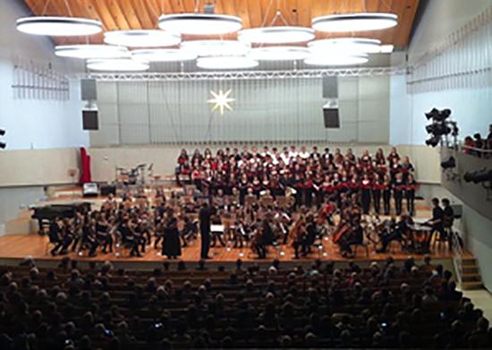 Großer Chor und Großes Orchester im Konzertsaal der UdK