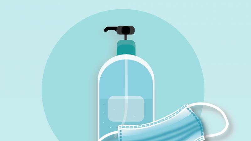 Desinfektion und Mundschutz